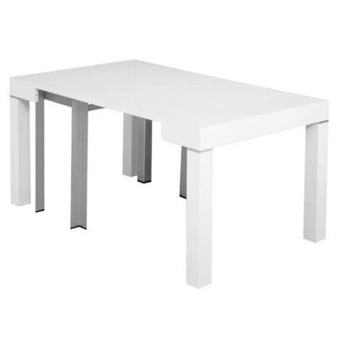 table laquee blanche extensible table console extensible blanche laqu 201 e 4 rallonges alesia achat vente ensemble salle a manger