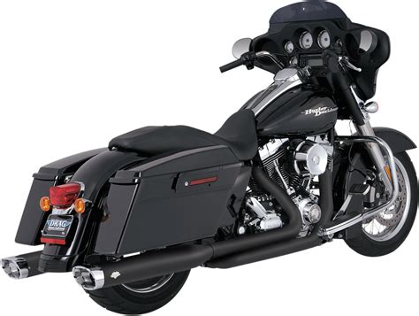 Vance & Hines Black Duals Motorcycle Headpipes 09-16