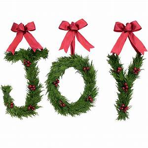 holiday letters of joy wreath gump39s With joy greenery letters