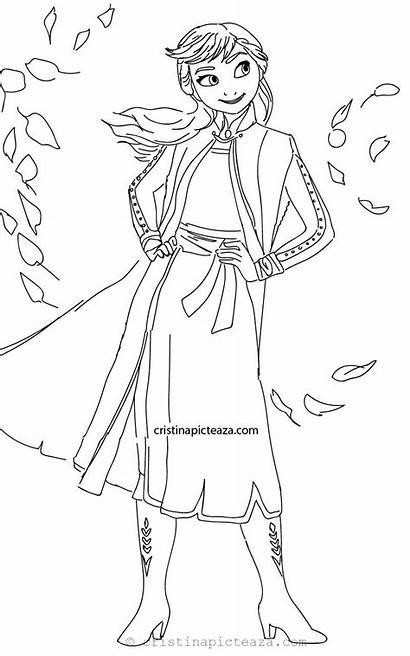 Frozen Coloring Ana Sheets Anna Colorat Elsa