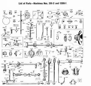 Parts List For Singer 201