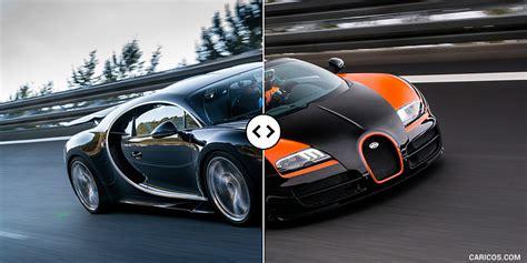 Bugatti Veyron And Chiron by Bugatti Chiron Vs Veyron Gs Vitesse