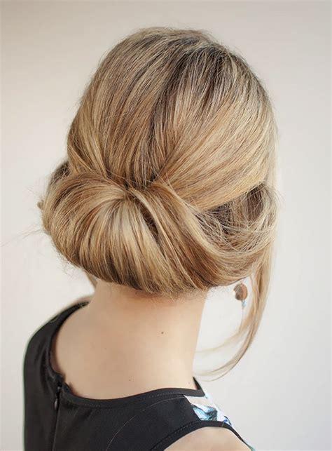 easy updos    wear  work women hairstyles