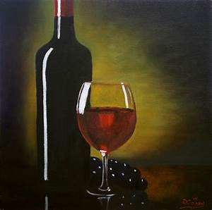 BAGA Show Painting #1 – Wine Bottle and Glass | The Daily ...