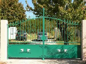 Portail 2 Battants : alicia portail 2 battants m tallerie megnant portes les valence dr me ard che ~ Melissatoandfro.com Idées de Décoration