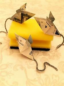 Geld Falten Mäuse Zum Verbraten : maus falten geld falten geldgeschenk origami geschenke ~ Orissabook.com Haus und Dekorationen