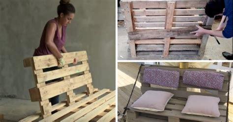 fabriquer un canapé en palette 8 tutos vidéos pour fabriquer un canapé en palette