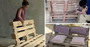 Fabriquer Un Canapé En Palette : 8 tutos vid os pour fabriquer un canap en palette bonus d co ~ Voncanada.com Idées de Décoration