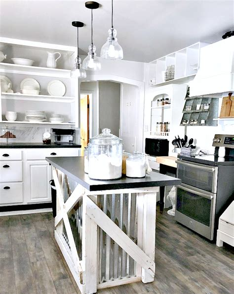 corrugated metal kitchen island diy salvaged junk projects 412funky junk interiors 5883