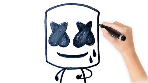 Como dibujar a marshmello POP paso a paso how to draw