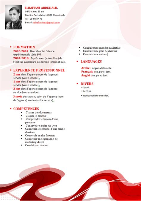 Créer Cv Word by Resume Format Format De Cv Original