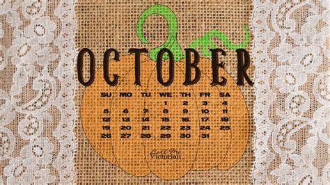 october  desktop calendar wallpaper call  victorian