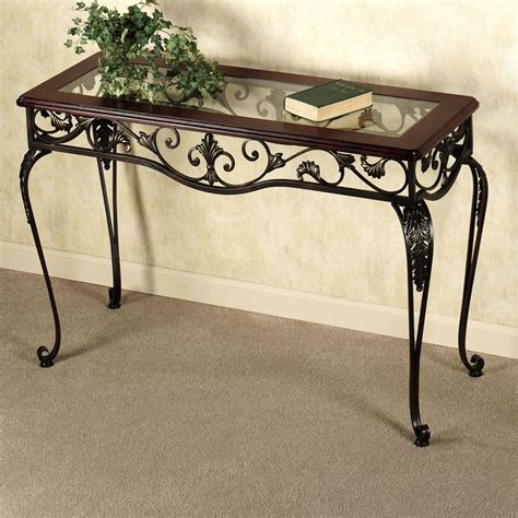 images  tuscan console decor  pinterest foyer tables entry ways  wrought iron