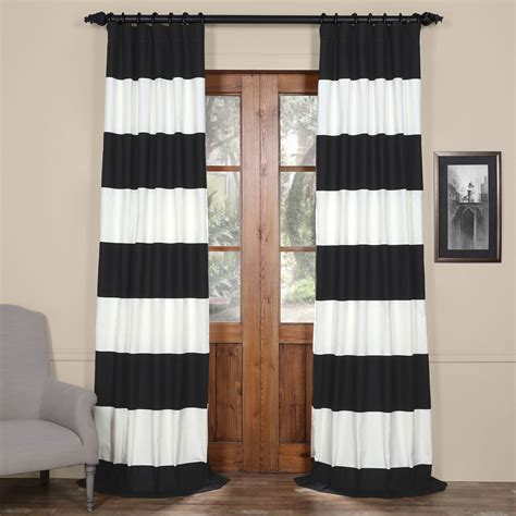 108 Curtains And Drapes by Half Price Drapes Black And White 50 X 108 Inch
