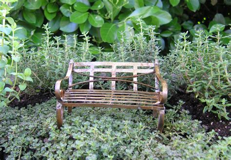 miniature antiqued garden bench garden artisans llc