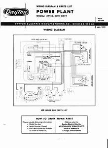 3w015 Parts List And Wiring Diagram