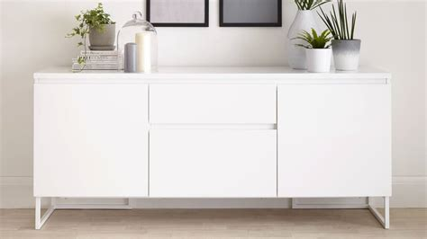 Gloss Sideboard Uk by Contemporary White High Gloss Sideboard With Storage Uk