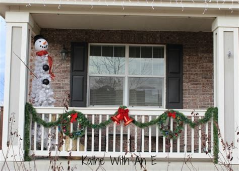 front porch christmas decor      snowman tree