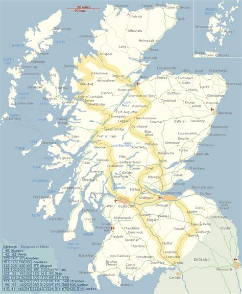 images  places pictures  info scotland map  cities