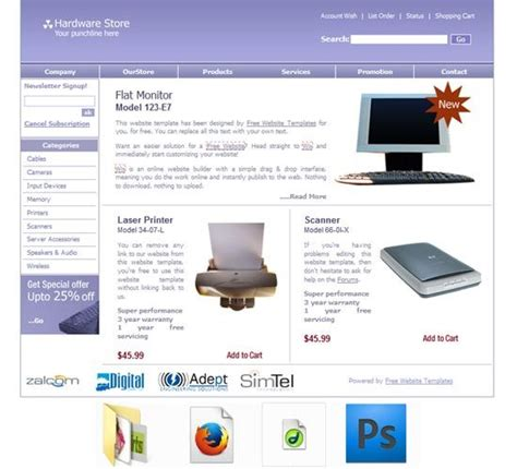 Computer Repair Web Template Free by Computer Repair Template Free Templates Download
