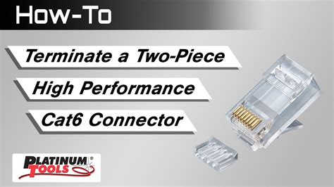 how to terminate a two piece high performance cat6 connector youtube