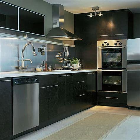 black and silver kitchen designs stūra virtuves iekārtas 7842