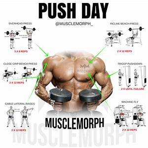 Push Day Workout Exercise Gym Bodybuilding Musclemorph Musclemorphsupps Com