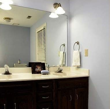 glass mirrors for bathrooms before after bathroom mirror makeovers hooked on houses 18482