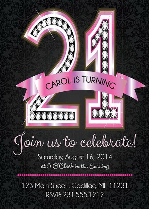 st birthday invitations pink diamond st birthday