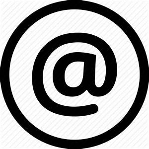 At  Electronic  Email  Mail  Sign  Symbol Icon