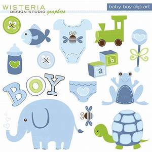 Baby Boy Elements - Clip Art for Personal & Commercial Use ...