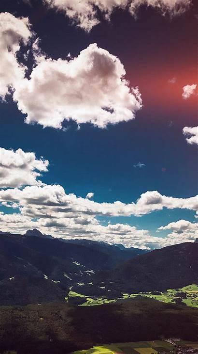Nature Cool Cloud Summer Mountain Sky Iphone