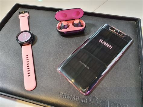 samsung galaxy a80 blackpink exclusive edition includes matching galaxy active and
