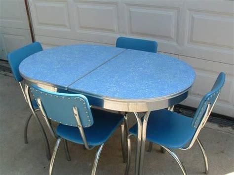 blue formica kitchen 1950 39 s dinette set retro vintage dinettes pinterest