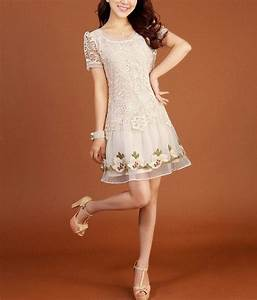 cream colored chiffon short dress handmade lace tunic With cream colored short wedding dresses