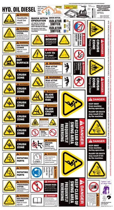 mini excavator sticker kit safety stickers safety decals