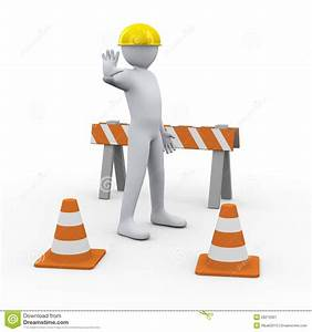 3d Man At Construction Site Stock Image
