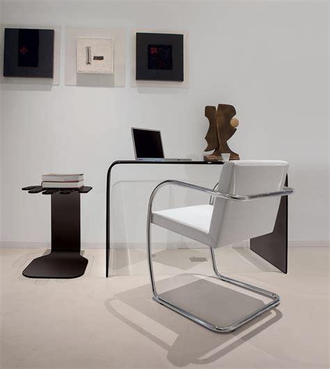 bureau verre design contemporain accademia pont en verre courbé idd