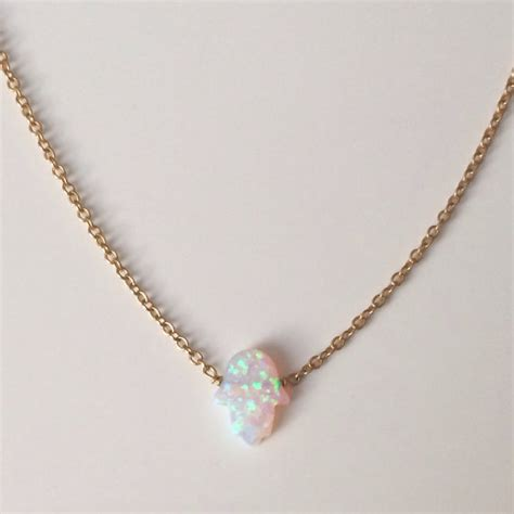 white opal necklace opal white hamsa necklace kula kai jewelry