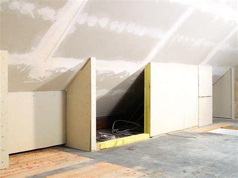 Freistehende Halbhohe Trockenbauwand by Dachschr 228 Ge Schrank Schiebet 252 Ren Selber Bauen Wohnideen
