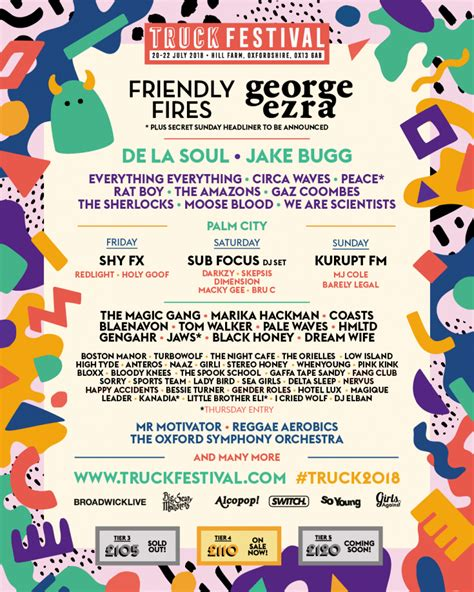 Truck Festival Confirms Friendly Fires, George Ezra, Jake