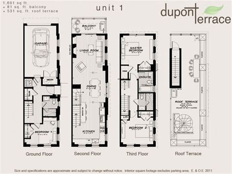 architecture urban townhouse floor plans fresh toronto dupont terrace plan intended  ideas