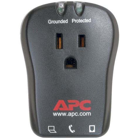 surge protector telephone outlet protection travel apc p1t