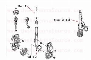 1980 Cadillac Deville Antenna Mast Parts