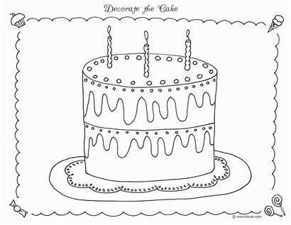 Coloring Sweet Treats Birthday Decorations Geburtstagskuchen Cake