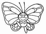 Coloring Pages Butterfly Pokemon раскраска Printable бабочка Christmas sketch template