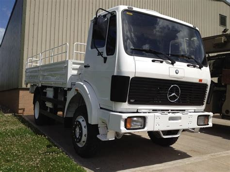 mercedes truck 4x4 mercedes 1017 4x4 drop cargo truck ex mod direct sales