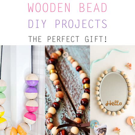 wooden bead diy projects  cottage market