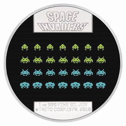Space Invaders Silver Oz Lenticular Coin Proof