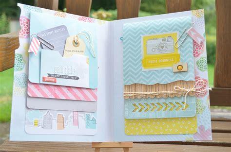 mini album selber basteln scrapbook file folder mini album mixed media gelli plate basteln mit papier